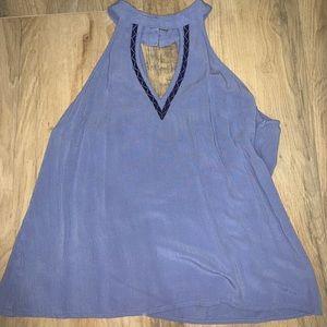 Francescas Collection Blue Rain Blue Halter Tank